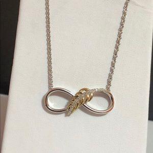 Kay Jewelers Jewelry - NWOT solid 10kYG & 925 diamond necklace pendant